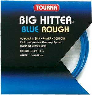Tourna Tennis Racquet String Big Hitter Rough 16 Gauge, 40 FT-12 M-Blue
