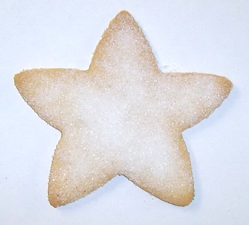 Scott's Cakes Christmas Star Sugar Cookie with White Sugar in a Decorative Small Tin
