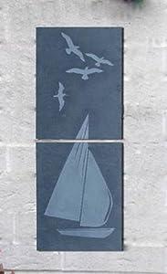 Greenkey Medium Coastal Slate Wall Art by Greenkey Garden and Home Ltd