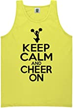 YOUTH quotKeep Calm and Cheer Onquot Bright Neon Tank Top - 6 bright colors