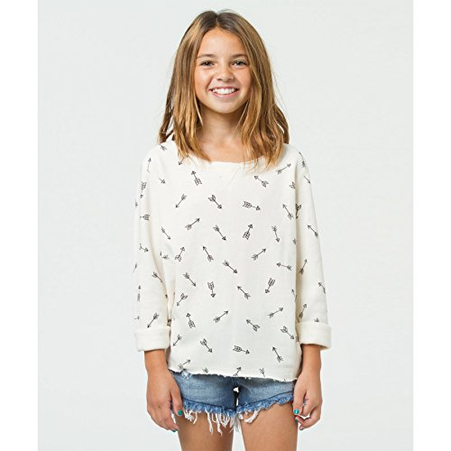 Billabong Girls' Shore Thingz Pullover White Cap Xxs front-866665