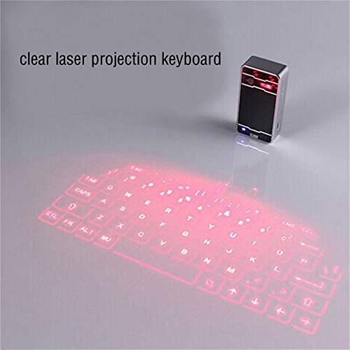 iNextStation Wireless Bluetooth Projection Virtual Keyboard,Ultra-Portable Full-Size mini projector Laser Virtual Keyboard Mouse Bluetooth for iPhone iPad Galaxy Tab Galaxy Note Android Phone Tablet