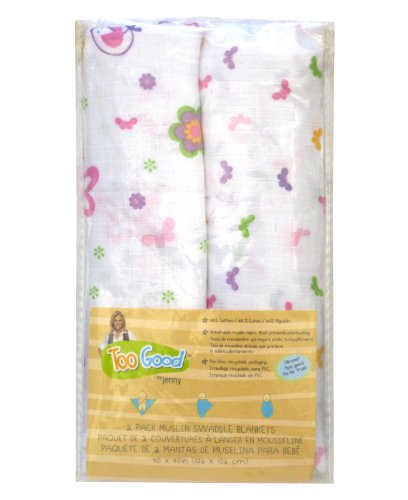 Jenny McCarthy Too Good Baby 'Floral Flutter' Muslin Swaddling Blankets, 2-Pack - 1