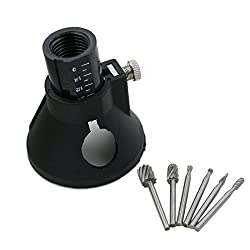 New DREMEL MultiPro electric Drill's Special seat Dedicated Locator Horn Fixed Base 6pcs HSS Wood Milling Burrs Cutter Set