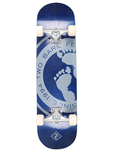 two-bare-feet-kids-double-kick-complete-skateboard-cruiser-concave-deck-since-94-blue-31-x-8-inch