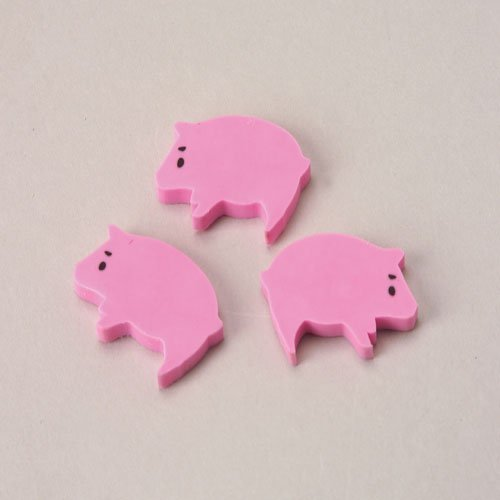 US Toy Pink Pig Erasers (144 Pack)