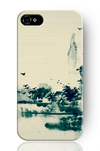 Sprawl New Fashion Design Hard Protect Skin Case Cover Shell For Mobile Cell Phone Apple Iphone 4 4S-Chinese Landscape Painting front-376947