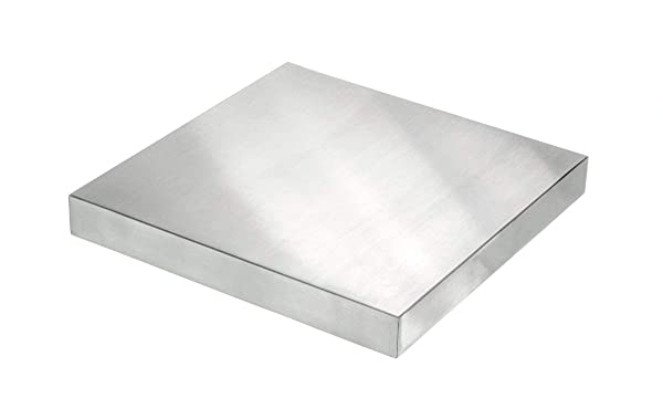 Ewandor Bench Block | Solid Metal Flat Anvil Jewelers Tool Perfect for Stamping | Shaping | Chasing | Flattening Metals | Crafts | Any Project That Hard Surface is Needed (120×60×10 mm) (Color: Silver, Tamaño: 120 60 10)
