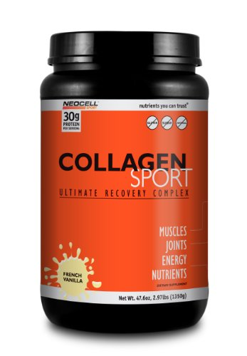 Neocell Collagen Sport Whey Protein, French Vanilla, 47.6 Ounce
