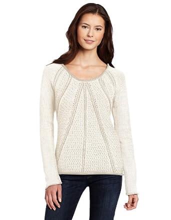 (推荐)Calvin Klein Jeans Women's Chunky Cotton Sweate女士时尚针织衣 3色 $43.38