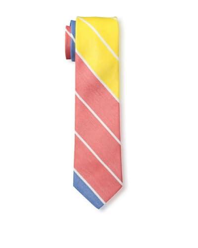 Gitman Men's Diagonal Stripe Tie, Orange