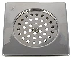 SHRUTI Stainless Steel Drain Cover (6 cm x 6 cm x 2 cm, Metallic, 1782)