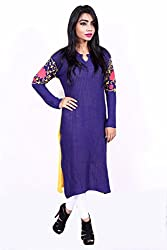 Women's Woolen Embroidered Kurti