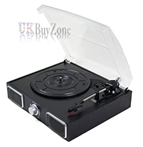 USB Turntable Player Built in Speakers PC Mac Recording Convert Records to MP3