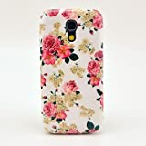 Beautiful Rose Flowers Pattern Hard Back Cover Case for Samsung Galaxy S4 Mini I9190 in Multi Colour
