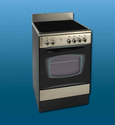 "24"" Electric Range (Ceran Top) In Black / Stainless Steel"