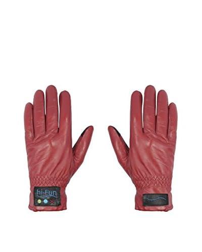 hi-Fun  Guantes Para Tablet Y Smartphone Hi-Call Leather Medium Rojo