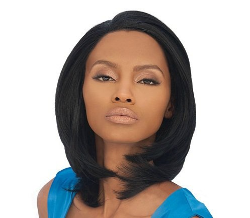OUTRE Lace Front Wig DUBY - Color #1B - Off Black