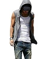 PODOM Hommes Pull Gilet S-XL Sans Manche Manteaux Sweat vestes capuches Hoodie T-shirt