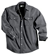 Tri-mountain Denim shirt jacket with fleece lining. 869 - CHARCOAL / BLACK_XS
