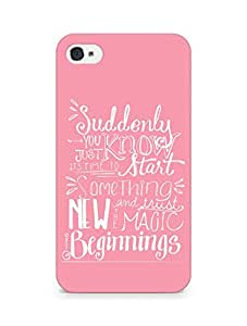 AMEZ start something new and the magic begins Back Cover For Apple iPhone 4