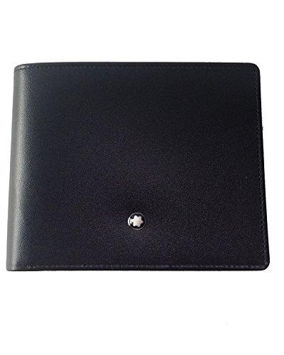 モンブラン MONTBLANC マイスターシュティック MEISTERSTUCK ウォレット コインケース付き2つ折り財布 7164 ブラック 「並行輸入品」