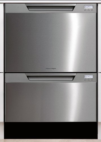 Fisher Paykel DD24DCTX6v2 Tall Double Dishwasher Drawer - Stainless Steel with Recessed Handle (Fisher And Paykel Dish Drawer compare prices)