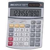 ジェントス ビッグディスプレイ電卓 セミデスク10桁 D-2840T