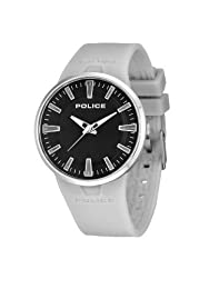 Police Dakar Men's Quartz Watch with Black Dial Analogue Display and Grey Silicone Strap 14003JS/02A