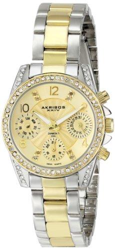 Akribos XXIV Women's Lady Two-Tone Stainless Steel Watch
