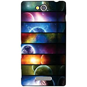 Sony Xperia C Back Cover - Colored Lines Designer Cases