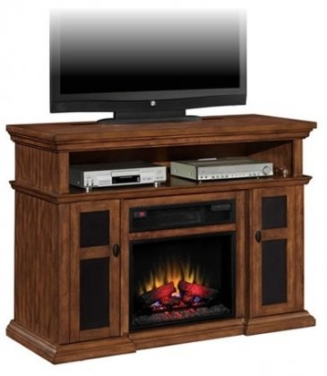 ClassicFlame Sterling 1,000 Sq. Ft. Infrared Electric Fireplace Media Cabinet in Walnut - 23IM0468-W502 photo B008N4HPH6.jpg