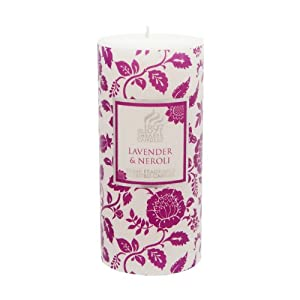 Shearer Candles Lavender and Neroli Scented 6 inch Pillar Candle  - White