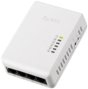ZyXEL PLA4225 - 500 Mbit/s Powerline Gigabit Switch mit 4 Ports