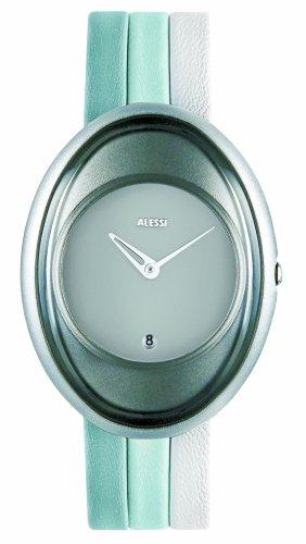 Alessi - AL19000 - Montre Femme - Quartz - Analogique - Date - Bracelet Cuir Multicolore