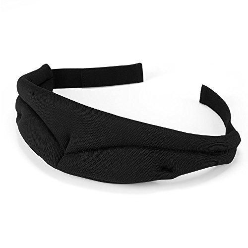 PLEMO 立体型睡眠アイマスク 安眠グッズ 超ソフト 完全通気性 男女兼用 睡眠 旅行に最適 (ブラック) EM-456