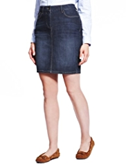 M&S Collection Cotton Rich Washed Look Denim Pencil Skirt