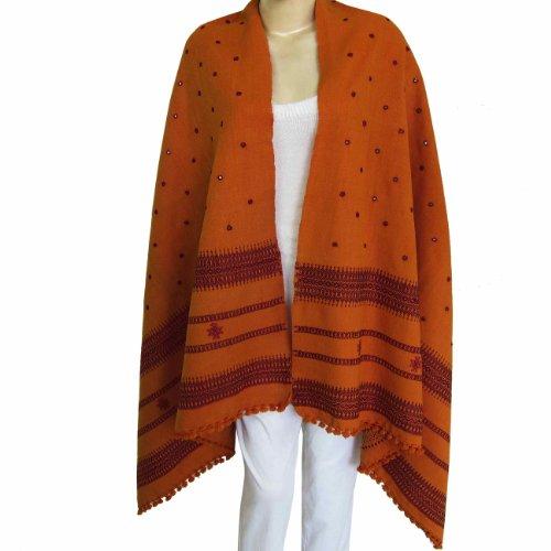 Wool Shawl Wrap Thread Mirror Embroidery Design Scarfs for Women