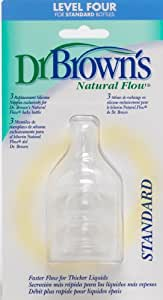Dr. Brown's Natural Flow Level 4 Standard Nipple, 3 Pack (Discontinued by Manufacturer)