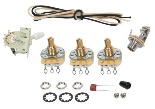 Fender Stratocaster Strat 5-way Wiring Kit - CRL Switch - CTS Pots (Pot Switch compare prices)