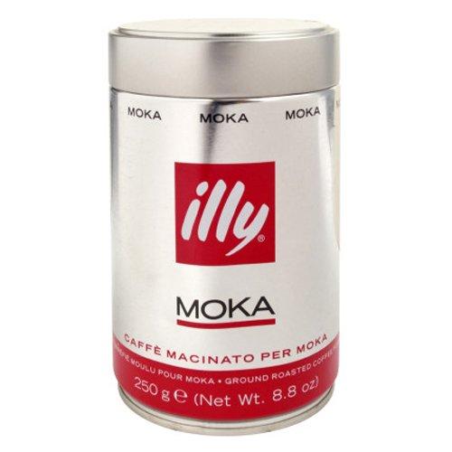 Illy Caffe Moka Espresso Ground Coffee, Medium Roast, 12 Count