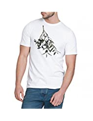 Chillum Men's Cotton T-shirt White - B00R9EQJRI