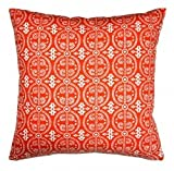 Pacific & Rose Cosmo 19x19 Square Pillow Cover in Tangerine w/ free shipping