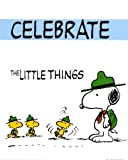 Peanuts: Celebrate the Little Things Art Poster Print by Charles Schulz, 16x20 Art Poster Print by Charles Schulz, 16x20