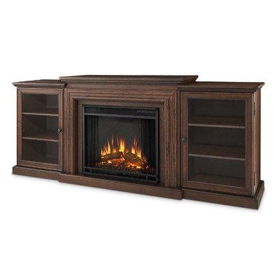 Frederick Entertainment Center Electric Fireplace Color: Chestnut Oak
