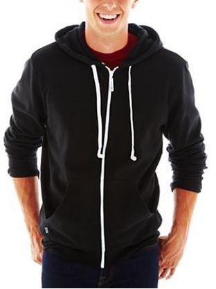 Hoodie Buddie Zip Jacket Sweatshirt Earbuds Black (Xl)
