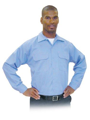 Steel Grip MBU79575-2XL - Camicia da lavoro in tessuto Westex ultra morbido resistente alle fiamme con bottoni sul colletto, colore: blu, 198 gr, misura XXL