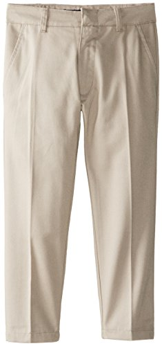 U.S. Polo Association Little Boys' Twill Flat Front Pants, Khaki, 4