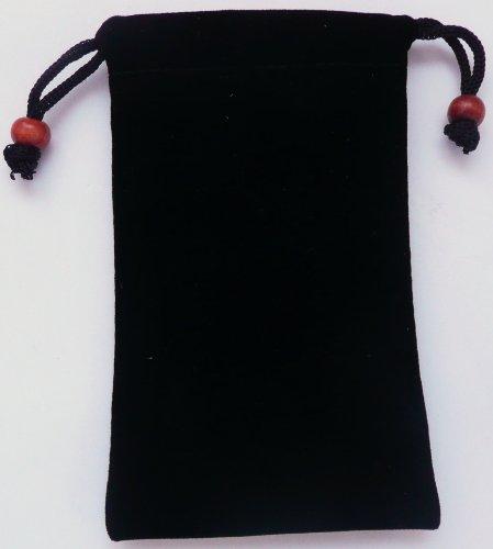 Emartbuy Black Velvet Case / Cover / Tasche / Socks Passend Für Lg T300 Cookie Lite