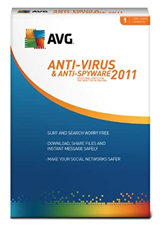 AVG 2011 Anti-Virus and Anti-Spyware 1 User [Download] [OLD VERSION]